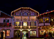 Bavarian Building Christmas Holiday Bustle Royalty Free Stock Photography