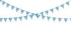 Bavarian bunting festoon from Germany with diamond pattern. Oktoberfest decoration Stock Photography