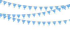 Bavarian bunting festoon from Germany with diamond pattern. Oktoberfest decoration Royalty Free Stock Photo
