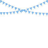 Bavarian bunting festoon from Germany with diamond pattern. Oktoberfest decoration. Vector illustration Stock Photo