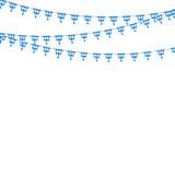 Bavarian bunting festoon from Germany with diamond pattern. Oktoberfest decoration. Vector illustration Stock Photos