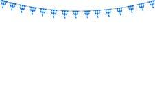 Bavarian bunting festoon from Germany with diamond pattern. Oktoberfest decoration. Vector illustration Stock Images