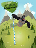 Bavarian cartoon gorilla Royalty Free Stock Images