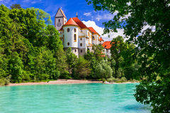 Bavarian castles - pictorial Fussen . Germany Royalty Free Stock Image