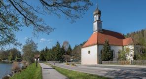 Bavarian chapel at the lake side tegernsee Royalty Free Stock Photos