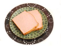 Bavarian cheese meat. Some bavarian cheese meat of pork Stock Photos