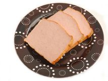 Bavarian cheese meat. Some bavarian cheese meat of pork royalty free stock images