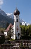 Bavarian church (Grainau) Stock Photos
