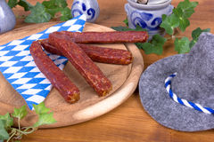 Bavarian country breakfast with sausages Stock Image