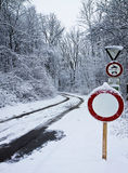 Bavarian countryside, path in the snow Stock Photography