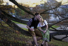Free Bavarian Couple In Love Stock Photography - 80574132