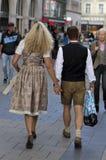 Bavarian couple Stock Images