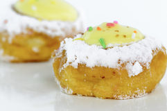 Bavarian cream doughnut and sugar Stock Image