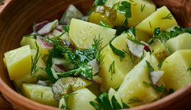 Bavarian Kartoffel Salat Royalty Free Stock Photos
