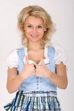 Bavarian Dirndl dress blonde stock photos