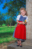 Bavarian Dirndl Preschooler Stock Photography