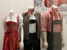 Bavarian display dummies Stock Image