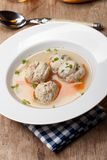 Bavarian dumpling soup Stock Photo