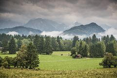 Bavarian Farmlands Royalty Free Stock Photography