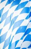 Bavarian flag. Close-up of a bavarian flag - nice background pattern Royalty Free Stock Photos