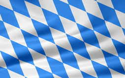 Bavarian Flag. Very large version of a bavarian flag. This flag contains the a non official number of lozengies but is accepted widely for a universial use for Royalty Free Stock Photography