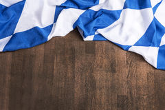 Bavarian flag as a background for Oktoberfest Royalty Free Stock Photo