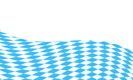 Bavarian flag background Royalty Free Stock Images