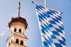 Bavarian flag Royalty Free Stock Images