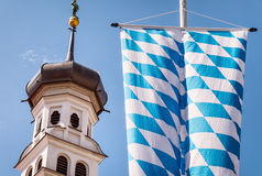 Bavarian flag Royalty Free Stock Photos