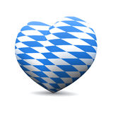 Bavarian flag love heart Royalty Free Stock Images
