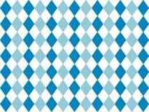 Bavarian flag pattern background. Backdrop design for Oktoberfest. Vector background design with bavarian white and blue pattern stock illustration