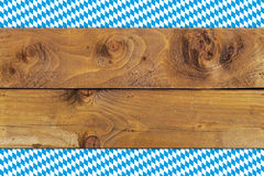 Bavarian flag on wooden board Royalty Free Stock Photography