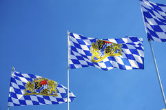Bavarian Flags Royalty Free Stock Photo