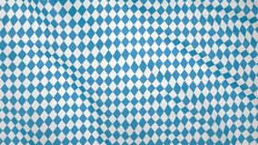Bavarian fluttering flag, imitation of waves on the flag. Royalty Free Stock Images