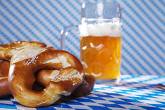 Bavarian food and drinks Stock Photos