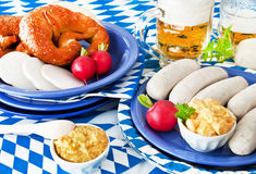 Bavarian food - Oktoberfest - catering Stock Photography
