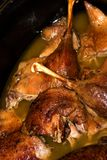 Bavarian (Franconian) roast duck Royalty Free Stock Image