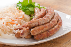 Bavarian fried sausages Royalty Free Stock Photography