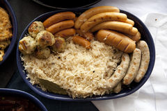 Bavarian fried sausages Stock Images