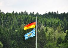 Bavarian and German flag Royalty Free Stock Photo