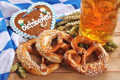 Bavarian gingerbread heart with beer Royalty Free Stock Photography