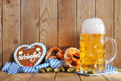 Bavarian gingerbread heart with beer Royalty Free Stock Images