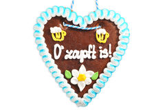 Bavarian gingerbread heart Royalty Free Stock Photography