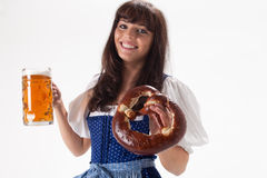 Bavarian girl Stock Photos