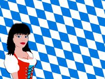 Bavarian girl Royalty Free Stock Photography