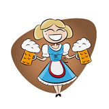 Bavarian girl with beer Royalty Free Stock Photo
