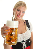 Bavarian Girl cheering Royalty Free Stock Image