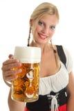 Bavarian Girl cheering Royalty Free Stock Image