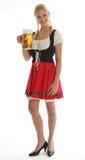 Bavarian Girl cheering Stock Images