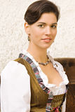 Bavarian girl costume in Holiday Royalty Free Stock Image